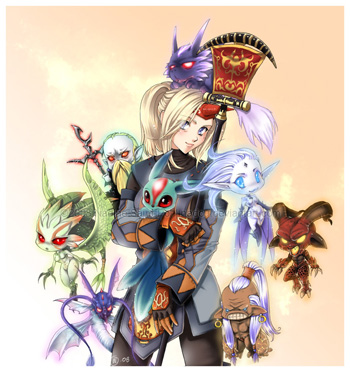 Contest Final Fantasy XI by Nadou, Fan Art, FFXI, Drawing
