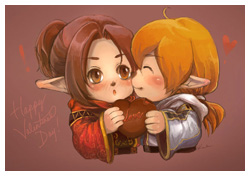 FFXI Fanart - Happy Valentine's Day!