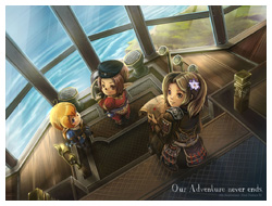 FFXI Fanart - Our Adventure Never Ends!