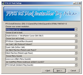 Pimp Addon: FFXi UI Mod Installer - the StarOnion - FFXI