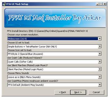 Aikar, FFXI Mod Installer