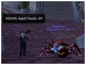 the StarOnion, Maiev, April Fools, 2009