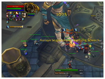 Auriaya, Sanctum Sentry, Feral Defender, WoW Ulduar 3.1 25 man Raid, Hunter Survival