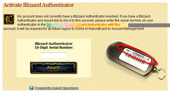 World of Warcraft, Security Authenticator