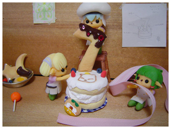 1st Prize Winner for FFXI 7th Year Anniversary Contest, Cake in Progress by P-Taru, Fanart Drawing Contest