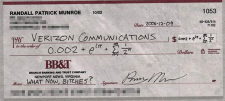 Engineer, Humor, Pissed Off, Cheques, Verizon Communications