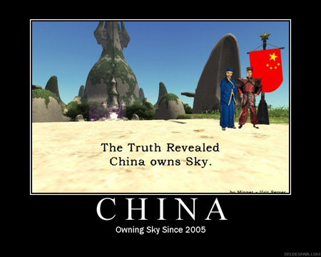RMT, China owns Sky and Tu'Lia, FFXI Meme, Fenrir