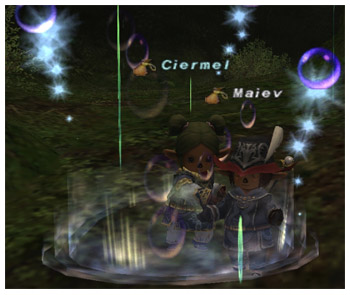 Maiev and Ciermel, FFXI Taru of Fenrir, WHM and and RDM