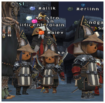 Taru Samurai, Whitegate of Fenrir, Maiev, Sakurakun, Optical Hat and Haubergeon