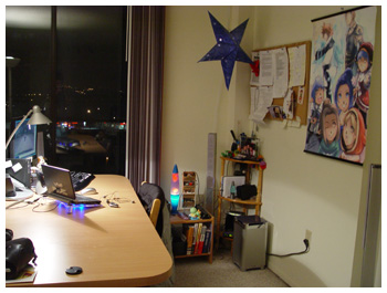 Maiev's Room with Daggy's Poster, FFXI Fenrir, Desktop Setup, Laptop Too!