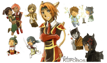Daggy, Kupobos, DaggyInk, Diane Modena, LovelyDagger, FFXI Fan Art Drawing