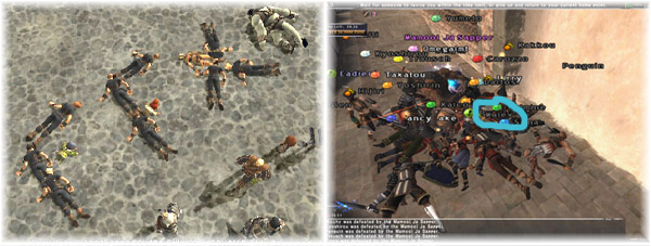 Dead walking in Alzahbi, FFXI made with Dead People, Mamool Blowing Up