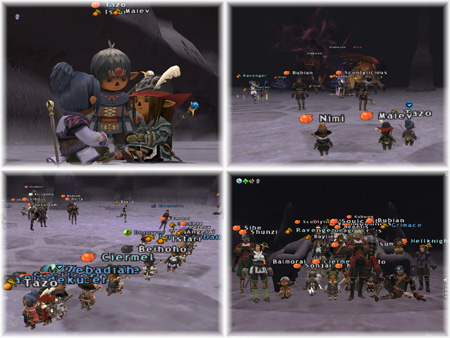 Maiev, Istari, Tazo, Nimi, Taru Train, DuckHUNT killing Kirin, FFXI Fenrir Server