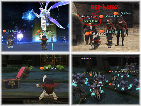 Istari, Weeber, Sibe, Maiev, Last CoP Mission BC Fight, Salvage, Frogs and Gears, FFXI Fenrir Server