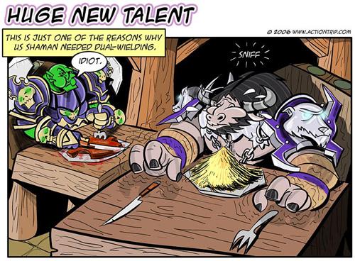 WoW, Dual Wield, Comics, Humor, Tauren, LOL