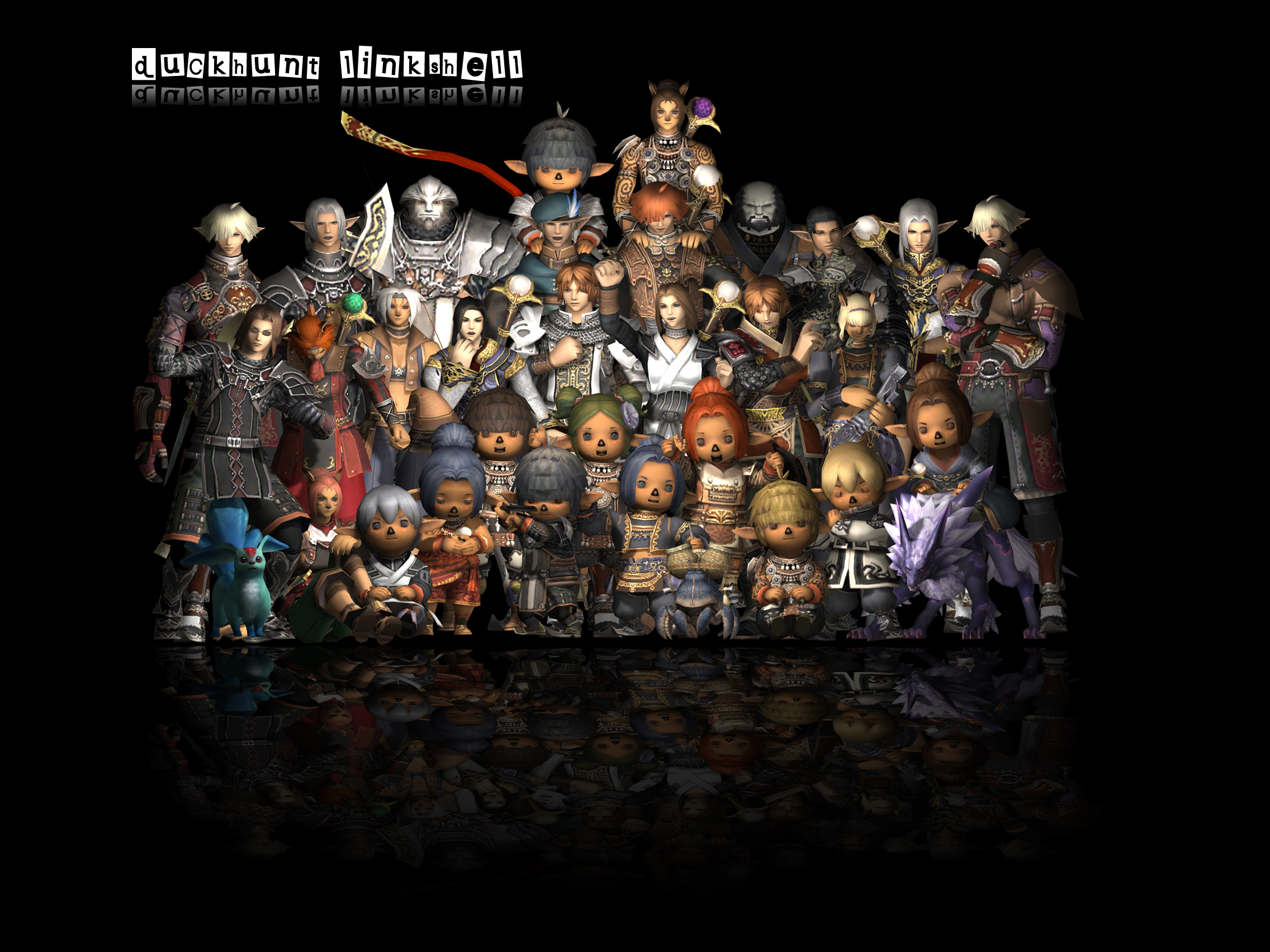 3ds, FFXI Linkshell Group Picture, Autodesk Rendering, Fenrir DuckHUNT