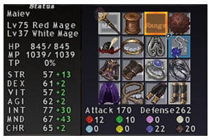 Cure Equipment, Taru Red Mage, Maiev