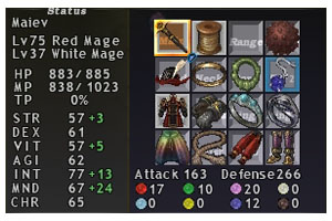 Maiev Equipment, Red Mage, FFXI, Fenrir