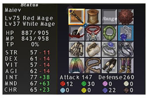 Maiev Equipment, Red Mage