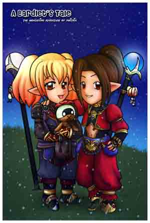 Etain's Birthday Present for 09, FFXI Fan Art Drawing by priestessofpie