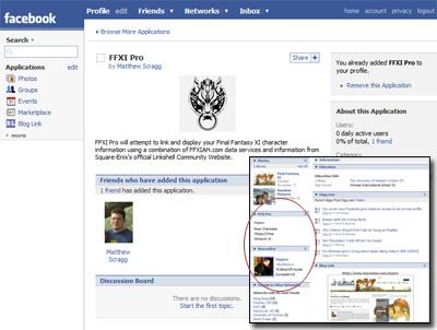 FFXI Pro, FFXI, Facebook
