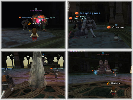 Ciermel, Maiev, DuckHUNT, Salvage, Hellknight, Mad Bomber, Bhaflau Remnants, FFXI Fenrir Server