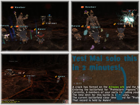 Resin, Istari, Ciermel, Maiev, Roc BCNM, 2min Clear, FFXI Fenrir Server