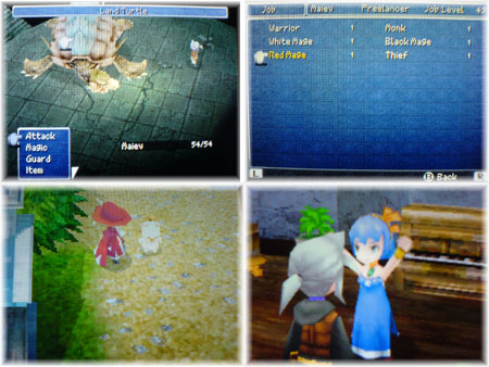 Final Fantasy III for DS, Screenshot