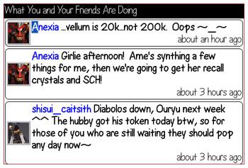 Friends Timeline on Twitterberry
