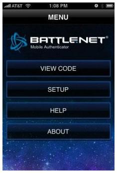 Blizzard's Mobile Authenticator, iPhone