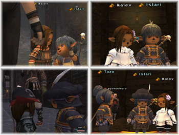 Maiev and Istari, Taru getting Married, Tazo, FFXI Romance Taru of Fenrir Server
