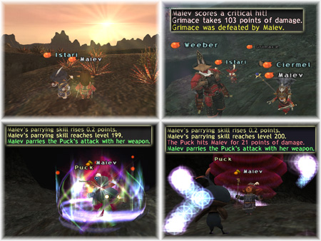 Ciermel, Istari, Maiev, Weeber, Parrying Skillup, Lovely Sunset in Vanadiel, FFXI Taru of Fenrir Server, Romance