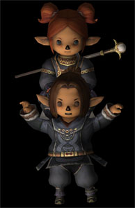 Mai Piggyback Jowah, the StarOnion, 3ds, Rendering, FFXI