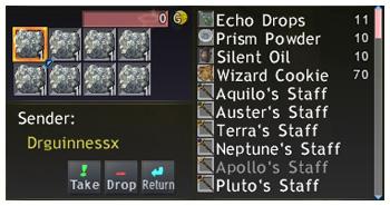 Birthday Prank, FFXI, the StarOnion Brigade, Rock Salt, Delivery Box