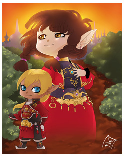 FFXI Fanart - Maiev and Otak - Kiriban Prize!