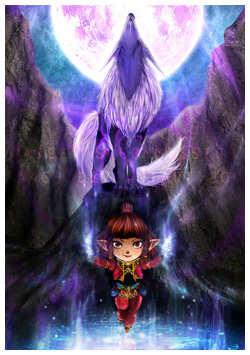 FFXI Fanart - The Celestial Fountain by Aaagh
