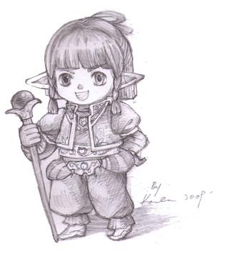 Maiev, Otak, FFXI Fanart Drawing