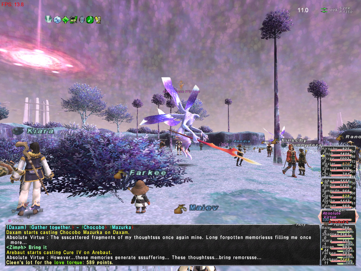 Absolute Virtue on FFXI Fenrir! - the StarOnion - FFXI ...