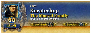 Martin Fury, Karatechop, WoW, AoE Death 30 yards Shirt, The Marvel Family