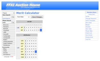 FFXIAH, Merit Calculator, Calc