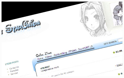 StarOnion's Version 3 theme, FFXI Blogs of Fenrir