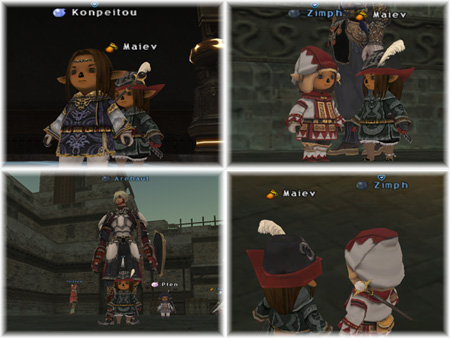 Zimph as WHM, Arebaut, Maiev, Maiev as WHM, FFXI Taru of Fenrir Server