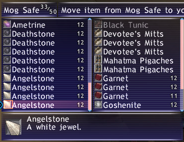 RichTaru, Maiev, FFXI, Goby Bag Updates, Gil