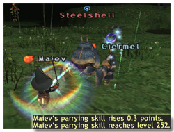 How to Parrying Skillup, Maiev on Taru Samurai, FFXI, Parrying Skill