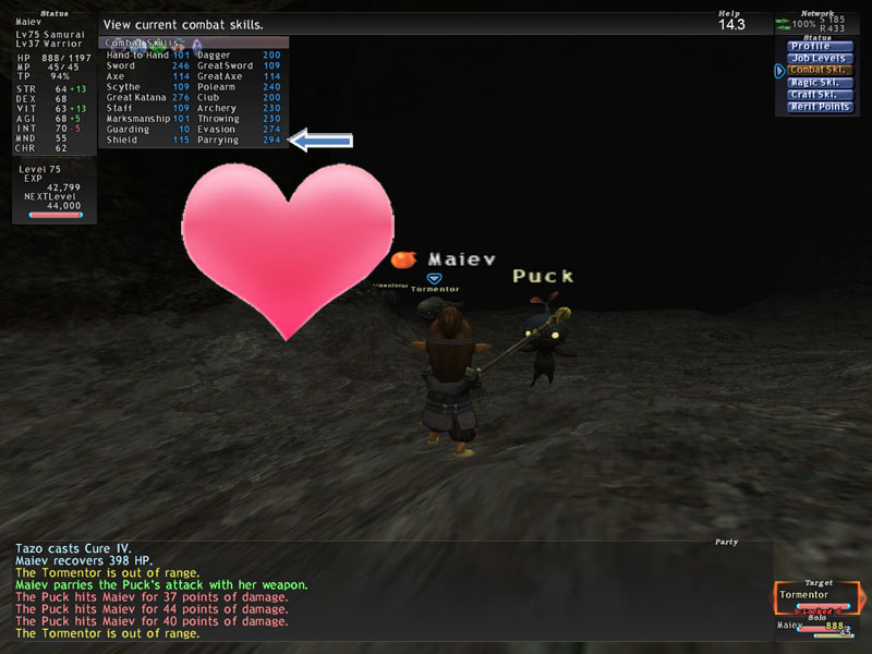 Parrying Skillup - The End! - the StarOnion - FFXI Fenrir to FFXIV