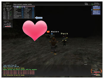 Parrying Skillup in FFXI, Maiev's Taru Samurai of Fenrir, Capped 269 Parrying on Samurai