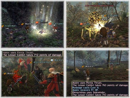 2boxing Ciermel, Maiev's Taru Samurai of Fenrir, Samurai Exping with Colibri and Spider, Wajaom Woodlands
