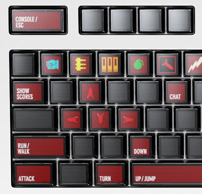Optimus Keyboard, Quake Setup