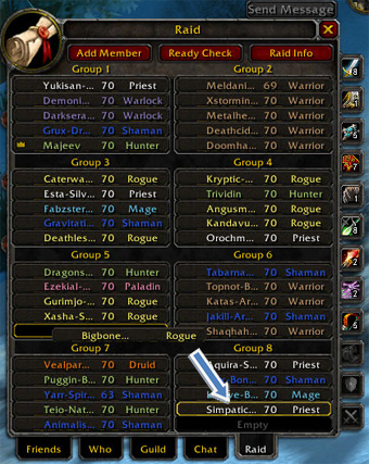 Raid Panel, WoW, World of Warcraft, UI