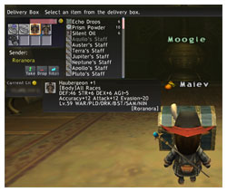 A Haubergeon signed by Roranora for Maiev, FFXI of Fenrir